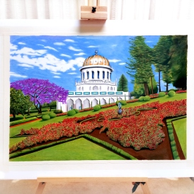Ling mcgregor drawing landscape temple artwork