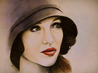 Angelina Jolie Drawing by Ling McGregor