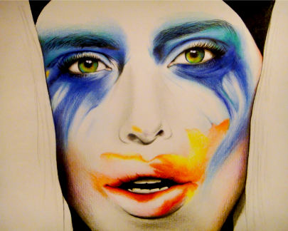 Lady Gaga Drawing by Ling McGregor