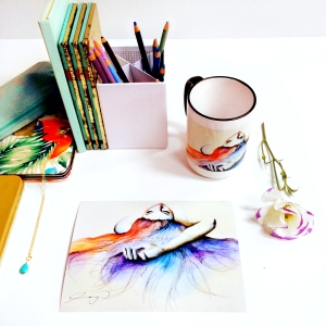 Water colour work/mug ling mgcregor